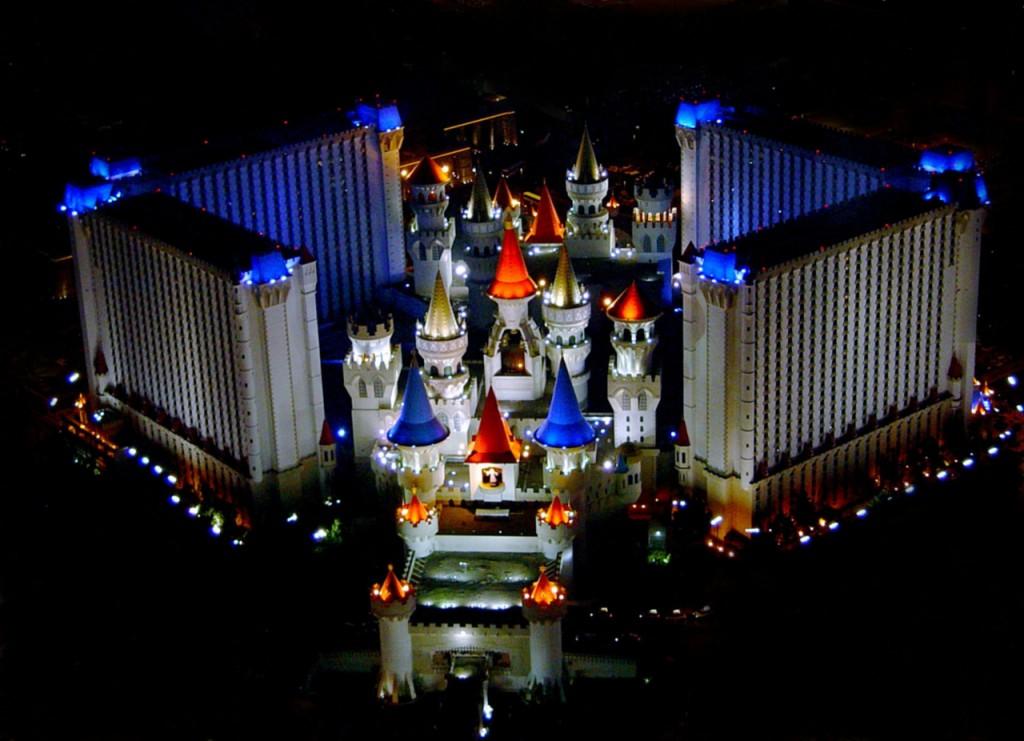 Didžiausi viešbučiai. The Excalibur viešbutis Las Vegase