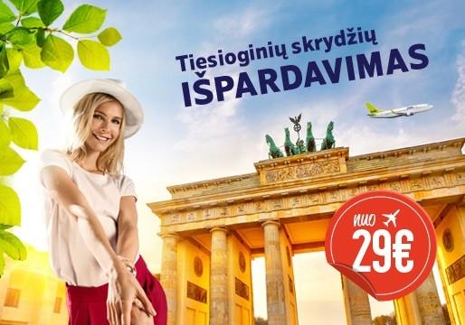 airBaltic tiesioginių skrydžių iš Vilniaus išpardavimas