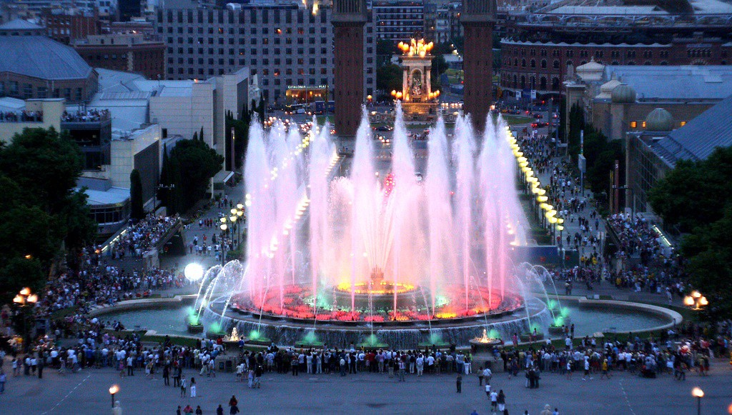 Ką aplankyti Barselonoje. Fountain Montjuic