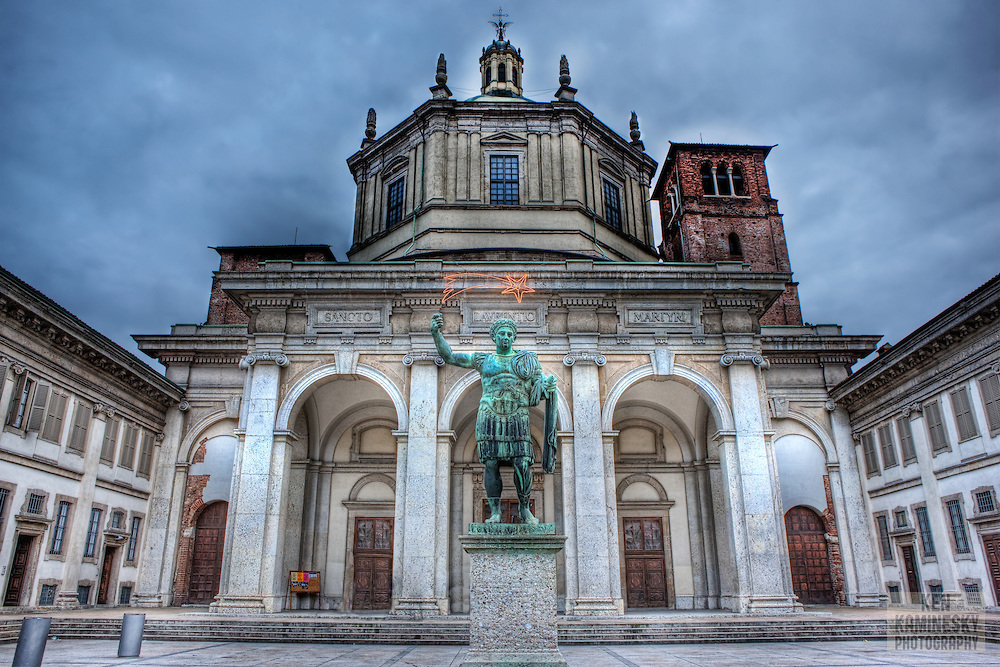 Ką aplankyti Milane. Milano Basilica di San Lorenzo Maggiore