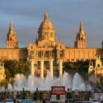 Nemokamos pramogos Barselonoje. Montjuic fontanas
