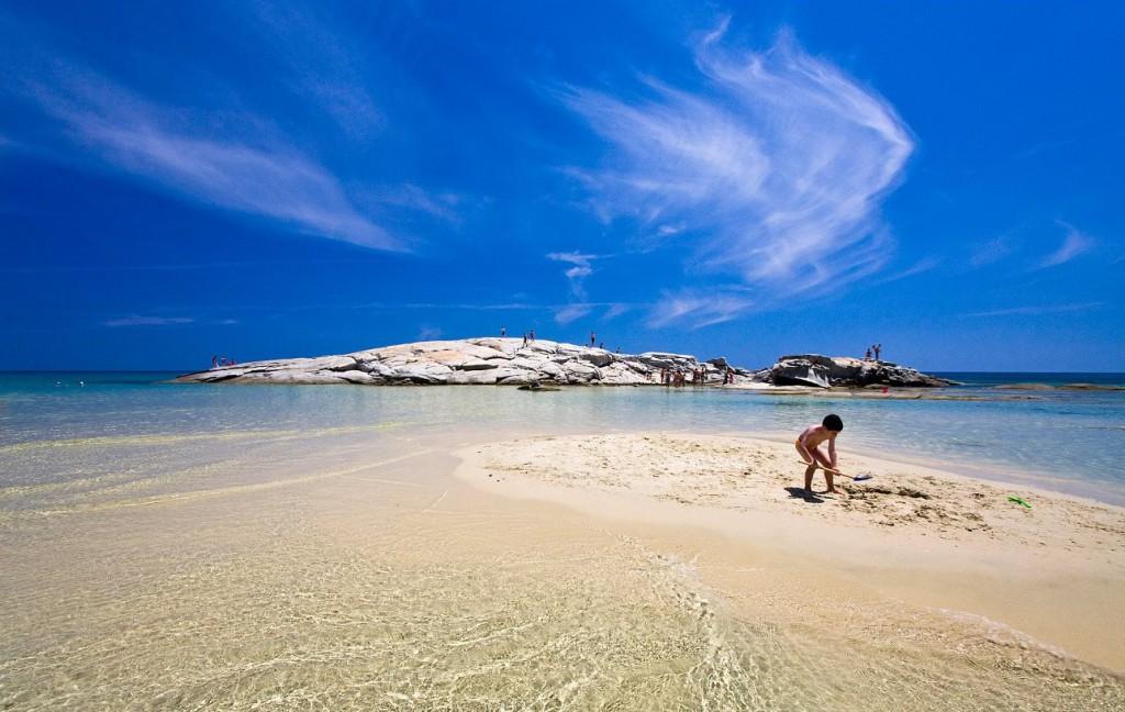 Paplūdimiai Sardinijoje. Costa Rei