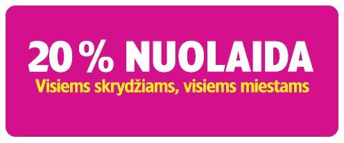 20 proc. nuolaida Wizzair lėktuvų bilietams