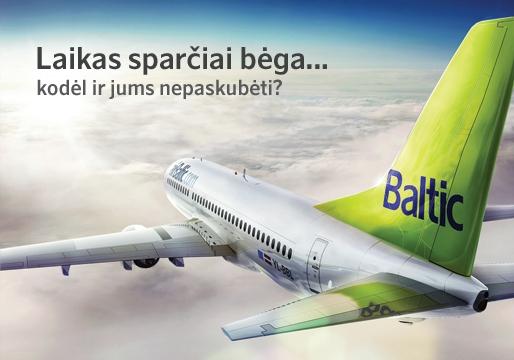 airBaltic skrydžiai į Europos miestus, kaina nuo 45€ (155,38 Lt)