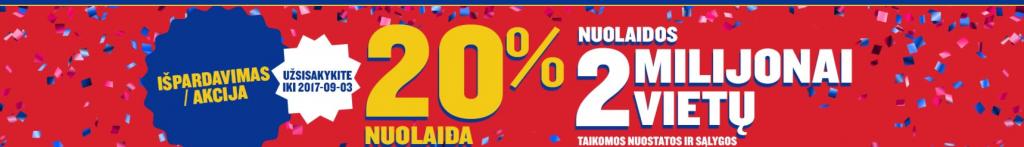 Ryanair bilietų akcija! 20 proc. akcija!