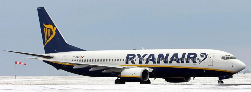 Ryanair skrydžių kryptys į Anglijos miestus