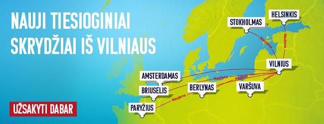 Nauji airBaltic skrydžiai iš Vilniaus